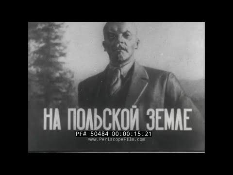 SOVIET PROPAGANDA NEWSREEL  LENIN'S LIFE IN KRAKOW, POLAND