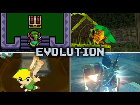 Evolution of Chest Opening & Item Get Animations in Zelda games (1986 - 2017)