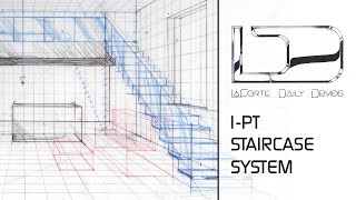 Staircase in 1pt Perspective using Division