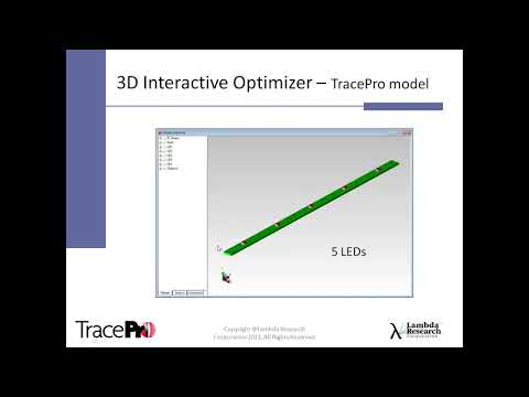 Designing and Optimizing Reflectors Using the 3D Interactive Optimizer