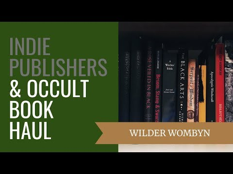 Indie Publishers & Occult Book Haul - YouTube