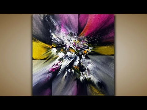 Abstract Painting / DEMO 48 / Abstract Art / Blending Acrylics / Painting Techniques