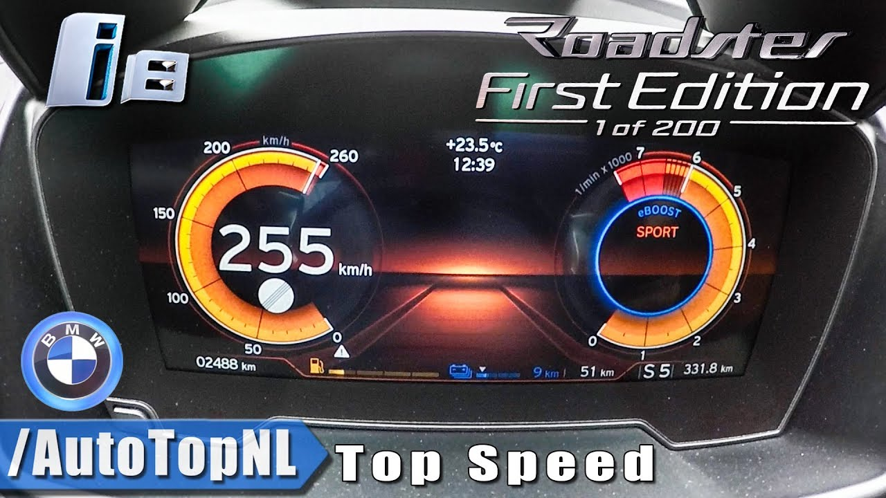2019 Bmw I8 Roadster Acceleration Top Speed 0 255km H Launch