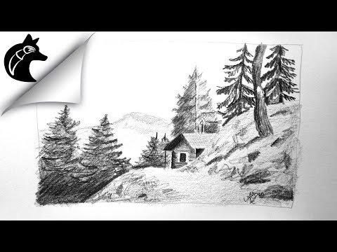 pencil-drawing-landscape