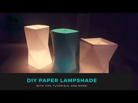 DIY How To Make Paper LampShades For Begginers | Home Decor 2017