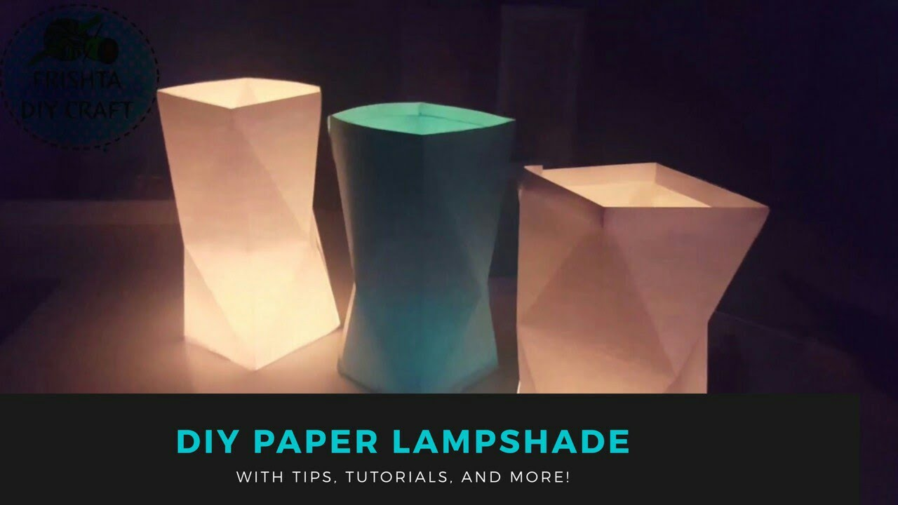 diy how to make paper lampshades for begginers home decor 2017 - Unique Lamp Shades