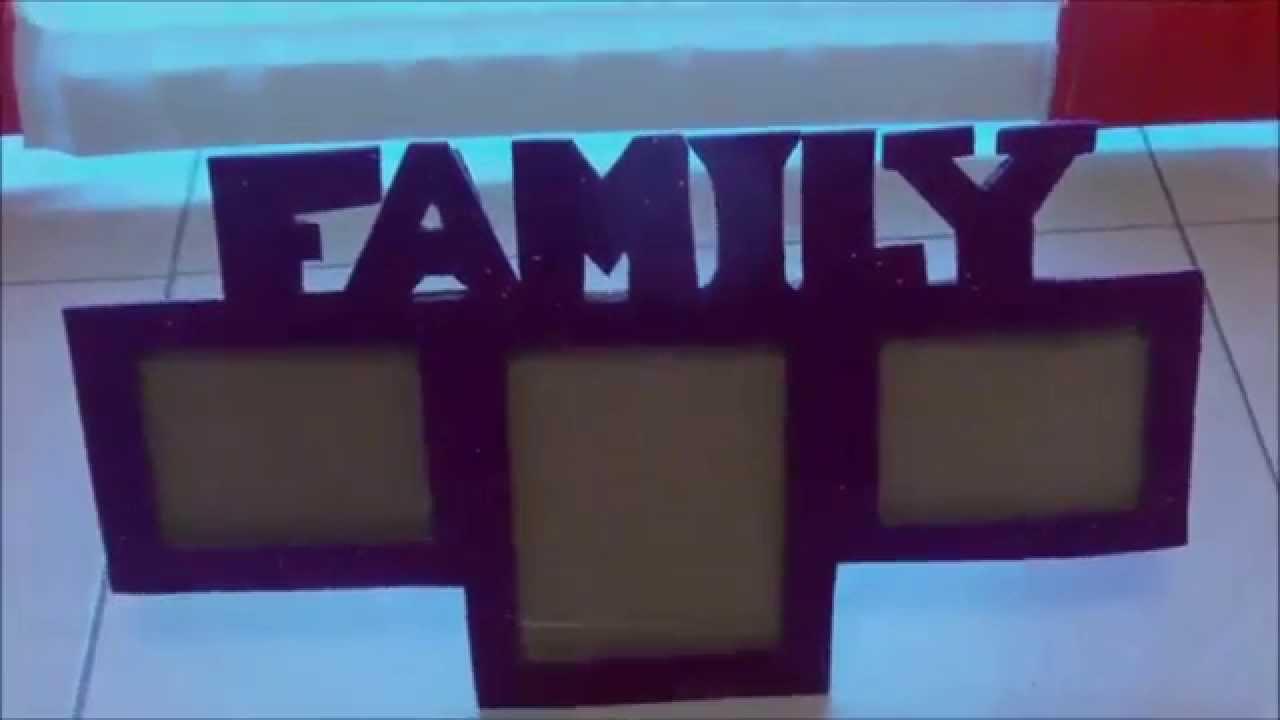 Manualidades para navidad marco de fotos FAMILY - YouTube