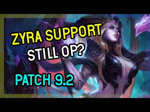 ZYRA SUPPORT STILL OP? SUPPORT ZYRA SEASON 9 League of Legends thumbnail