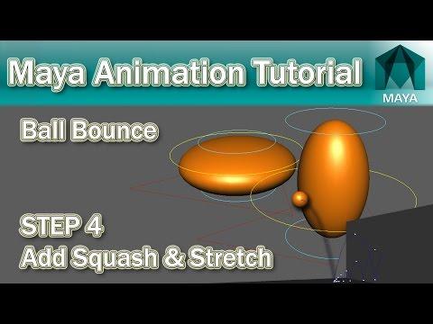 Maya Bouncing Ball Tutorial #4 Squash & Stretch