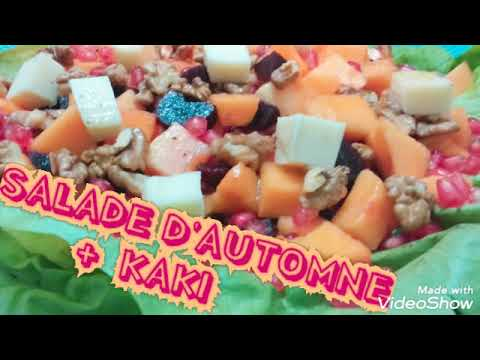 salade-d'automne-kaki-noix-سلطة-الخريف-البرسمون-جوز