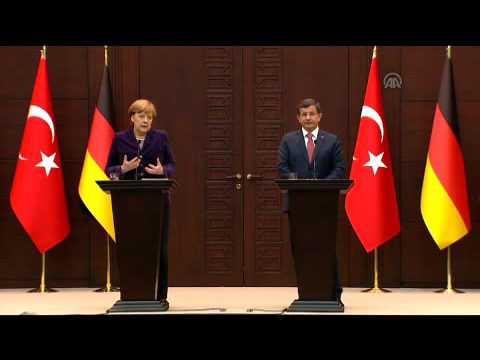 Ahmet Davutoglu   Angela Merkel press conference in Ankara