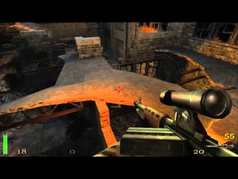 Let's Play Return To Castle Wolfenstein Part 12 Roof Top Fall Down.... A Lot