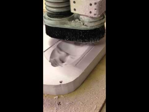 Making A Negative Mold For A Plaster Cast Using A CNC Router Finishing