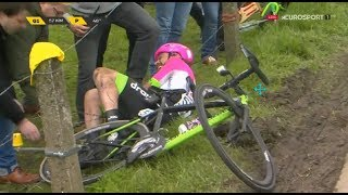 CYCLING CRASH COMPILATION CLASSIC MONUMENTS SPRING 2018 PART ONE | SWISSPOWERJET