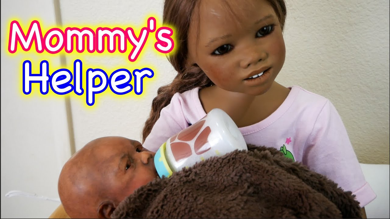 Silicone Baby Big Sister Mommy S Helper Helps Feed 3