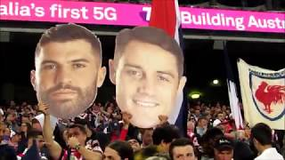 Sydney Roosters beating South Sydney Rabbitohs - Preliminary Final - 22.9.2018 - By Cora Bezemer