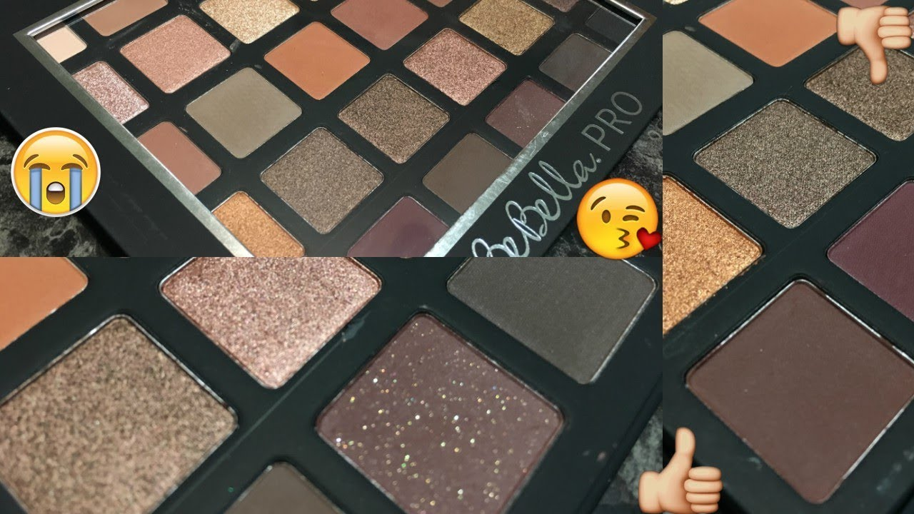 BeBella Cosmetics 'Basic Browns' PRO Eyeshadow Palette - LIVE SWATCHES | WOC