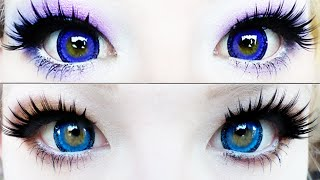 Contact Lens Review | Vassen Sandy Blue & Violet | PinkyParadise