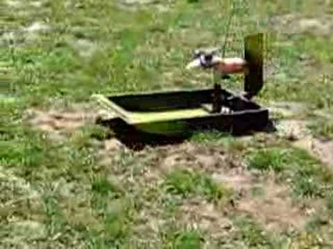 Homemade RC Airboat - Better Engine - YouTube