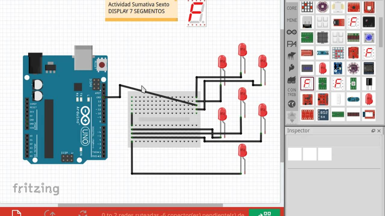 1. Display 7 Segmentos Fritzing - YouTube on alphanumeric display schematic diagram, up down counter circuit diagram, 7 segment display dimensions, shematic of 7 segment display diagram, multi-line led display diagram, 7 segment display installation, 7 segment display pin configuration, 7 segment display logic diagram, 7 segment display circuit, 7 segment display relay, 7 segment display truth table, 7-segment counter circuit diagram, decimal value in a diagram, 7 segment display datasheet, d 7-segment logic output diagram, 7 segment display power,