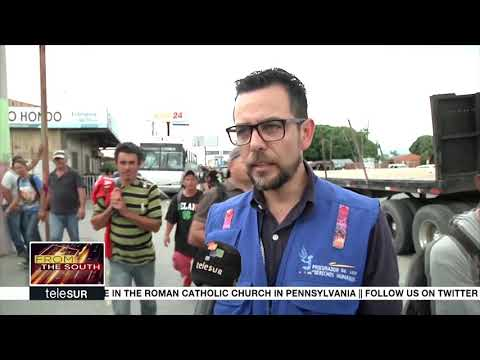First Group of Migrants Arrives to the Guatemala-Mexico Border