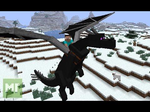Как Летать на Драконах в Майнкрафт с модами!