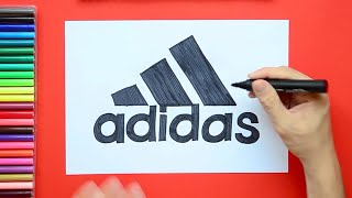 How to draw and color the Adidas logo