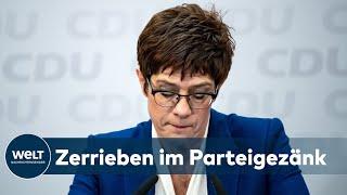 KRISE IN DER CDU: Wie Kramp-Karrenbauer ihre Partei bis ins Mark erschütterte