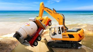 Emergency Excavator   The Hulk Rescue Car   Dump truck   Cement Truck   Car Toys For Kids