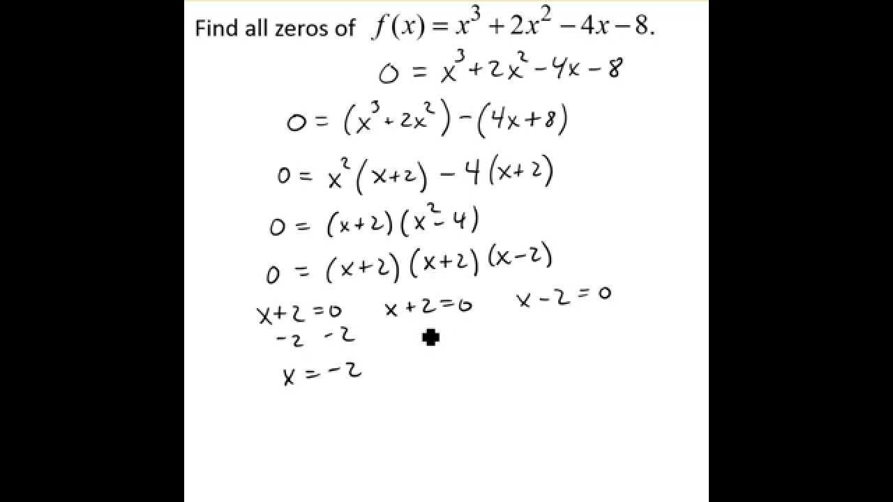 Use Factoring To Find Zeros Of Polynomial Functions