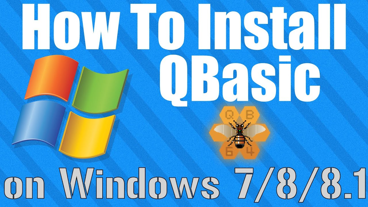 How To: Install QBasic on Windows 7 and 8 - YouTube