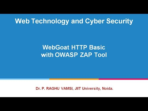 62 WebGoat HTTP Basic with OWASP ZAP Tool