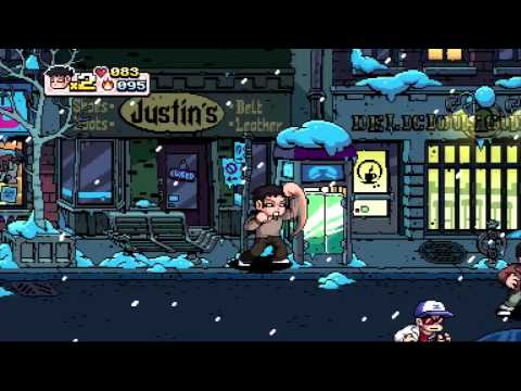 Scott Pilgrim Vs. The World: The Game (Wallace Wells and Online DLC) HD PS3 Gameplay