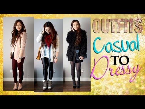 Winter/Autumn Outfits - Casual, Smart Casual, Dressy. Mini Lookbook