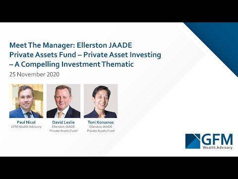 Meet The Manager Webinar: Ellerston JAADE Private Assets Fund - 25 November 2020