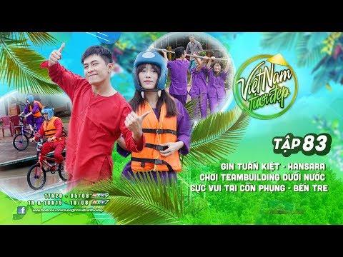 Gin Tuấn Kiệt - Han Sara chơi teambuilding dưới nước cực vui tại Cồn Phụng - Bến Tre | VNTĐ Tập 83