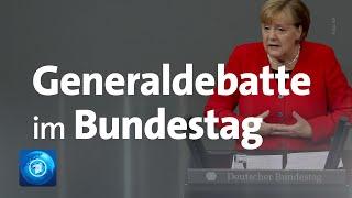 Generaldebatte im Bundestag