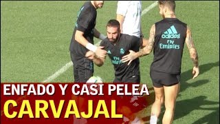 Download Video El monumental enfado de Carvajal: pelotazo que pudo acabar en pelea | Diario AS MP3 3GP MP4