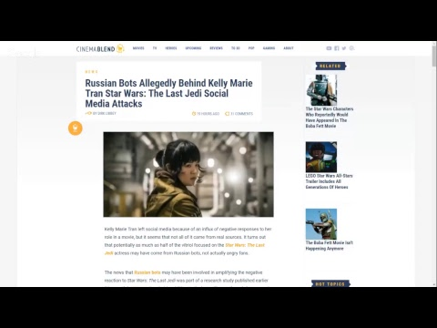 Russian Bots Behind The Kelly Marie Tran Harassment