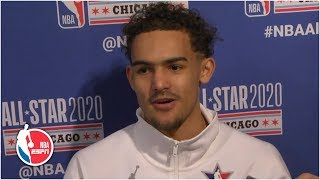 Trae Young wishes he was out there in 4th quarter off the All-Star Game | 2020 NBA All-Star Weekend