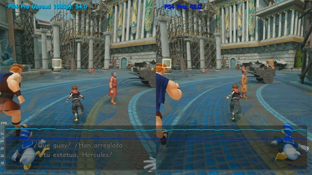 Kingdom Hearts 3 | PS4 Pro 1080p vs 4K (1440p) | Framerate Test | FPS  Comparison