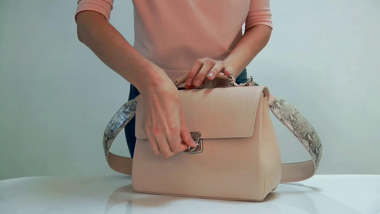 a9ac3cebb4ff Женская кожаная сумка Katerina Fox-1059 - YouTube