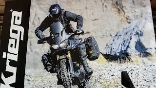 Africa Twin  Kriega Travelbike: Walkaround and opening the bags (EICMA 2017 MILANO)