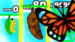 IS THIS THE STRONGEST CATERPILLAR BUTTERFLY EVOLUTION? (9999+ COCOON UPGRADE) l Butterfly Idle