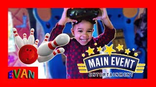 Family Fun Day at Main Event | Games and Bowling