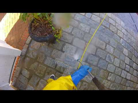 Hamptons power wash cleaning belgian block
