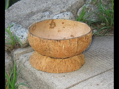 How to Make a Coconut Shell Bowl