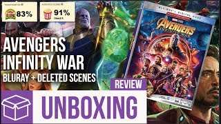 Avengers: Infinity War Blu Ray Unboxing + Review (Digital HD Giveaway)