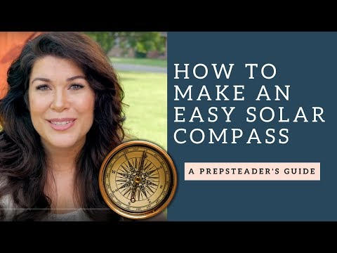 How to Make a Solar Compass (or Sun Compass) for wilderness
