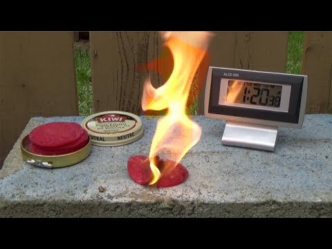 Wax Pad Fire Starters - Making and Testing